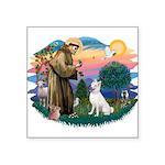 "St.Francis #2/ S Husky (W) Square Sticker 3"""
