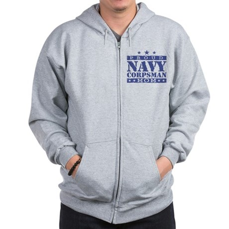 Navy Corpsman Mom Zip Hoodie