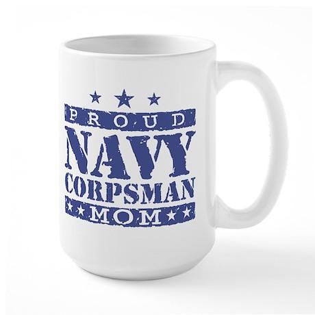 Navy Corpsman Mom Large Mug