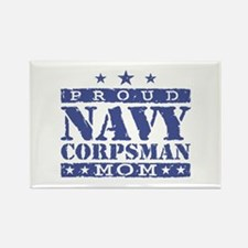 Navy Corpsman Mom Rectangle Magnet