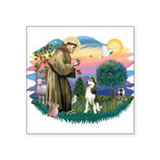 "St.Francis #2/ Siberian #3 Square Sticker 3"""