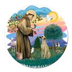 St Francis #2/ Sloughi Round Car Magnet