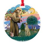 St Francis #2/ Sloughi Round Ornament