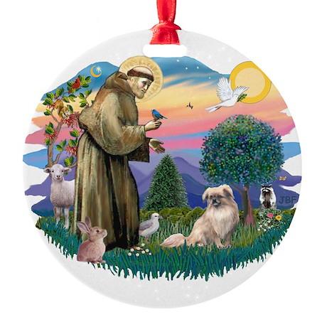St.Francis #2/ Tibetan Span Round Ornament