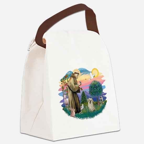 St.Francis #2/ Tibetan Spani Canvas Lunch Bag