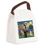 St. Fran #2 / Tibetan Terrier Canvas Lunch Bag