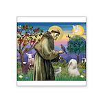 St. Fran #2 / Tibetan Terrier Square Sticker 3&quo