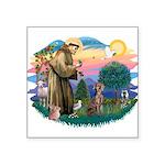 """St.Francis #2 / Weimaraner Square Sticker 3"""""""
