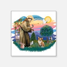 St.Francis #2 / Welsh Corgi ( Square Sticker 3&quo