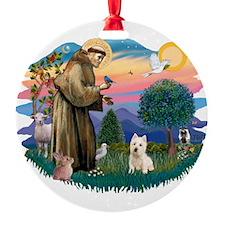 St Francis #2/ Westie Ornament