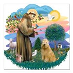 St Francis #2/ Wheaten #2 Square Car Magnet 3