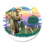 St.Francis #2/ Whippet #12 Round Car Magnet