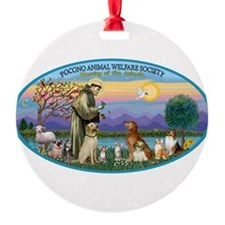 St Francis / dogs-cats Ornament