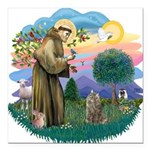 St. Fran (ff) - Norw. Forest Square Car Magnet 3&q