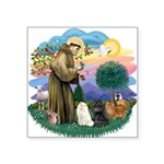 St. Fran (ff) - 3 Persian Cat Square Sticker 3&quo