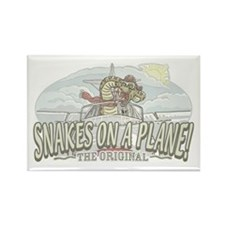 Pilot Snakes on a Plane Rectangle Magnet