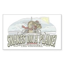 Pilot Snakes on a Plane Rectangle Decal