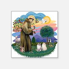 """St Fran(f) - 2 Ragdolls Square Sticker 3"""" x 3"""""""