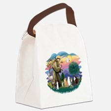 St Francis 2 - 7 Cats.png Canvas Lunch Bag