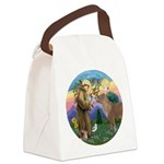 R-St Francis-ShetlandPONY.png Canvas Lunch Bag