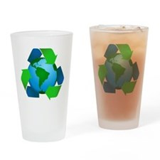 Recycle Symbol Drinking Glass