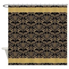 Black and Gold Damask