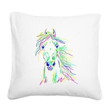 Colorful Steed Square Canvas Pillow
