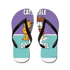 CFA Logo & Garfield Rules Flip Flops
