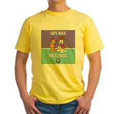 CFA Logo & Garfield Rules Yellow T-Shirt