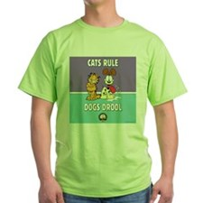 CFA Logo & Garfield Rules Green T-Shirt