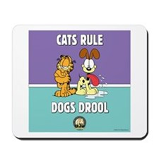 CFA Logo & Garfield Rules Mousepad
