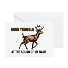 DEER TREMBLES Greeting Cards (Pk of 20)