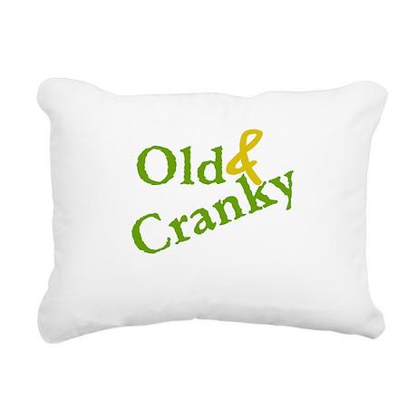 Old and Cranky Rectangular Canvas Pillow