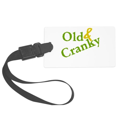 Old and Cranky Large Luggage Tag