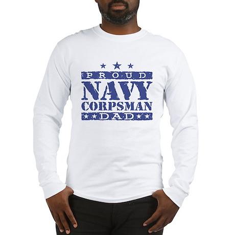 Navy Corpsman Dad Long Sleeve T-Shirt