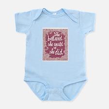 She Believed She Could Infant Bodysuit