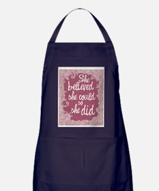 She Believed She Could Apron (dark)