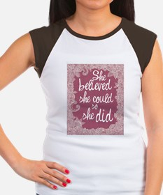 She Believed She Could Women's Cap Sleeve T-Shirt
