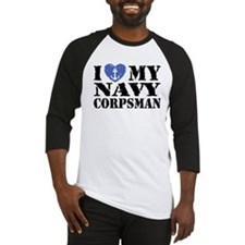 I Love My Navy Corpsman Baseball Jersey