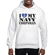 I Love My Navy Corpsman Hoodie