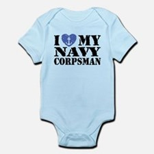 I Love My Navy Corpsman Infant Bodysuit