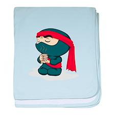 Dark Ninja with Tea baby blanket