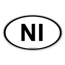 Int'l Country Code Oval Sticker: Northern Ireland