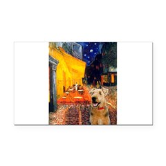 Cafe - Airedale (S) Rectangle Car Magnet