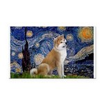 Starry - Akita3 Rectangle Car Magnet