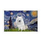 Starry-Am. Eskimo Dog Rectangle Car Magnet