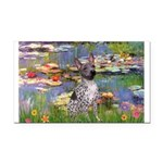 Lilies2-Am.Hairless T Rectangle Car Magnet