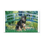 Bridge-Aussie Shep - Tri (L) Rectangle Car Magnet