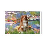 Lilies2-Aussie Shep (#4) Rectangle Car Magnet