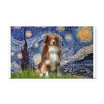 Starry-Aussie Shep #4 Rectangle Car Magnet